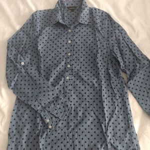 Button-down shirt with roll-up sleeves - Size 8